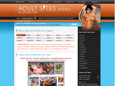 Searchable porn directory, Paysites & Freesites in all categories Adult Sites MENU