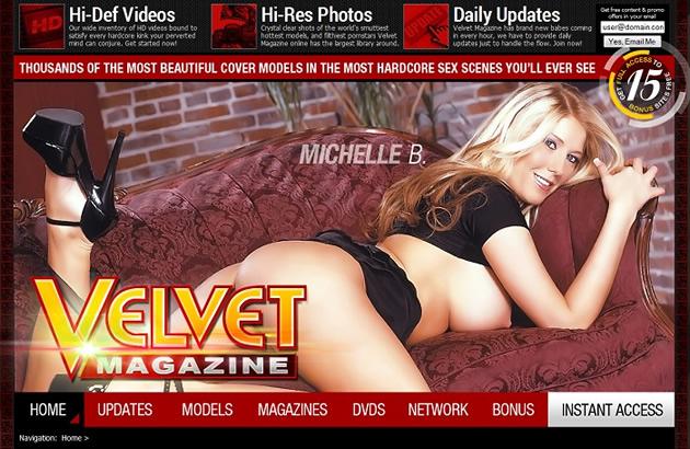 Beautiful cover models at Velvet Magazine